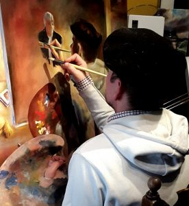 Behind the Art 2018 - Fabrice Clarou working 2