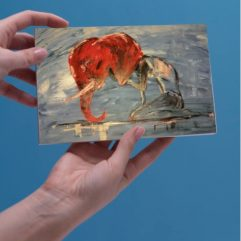 1create - human elefant greeting card by Sasti-Line