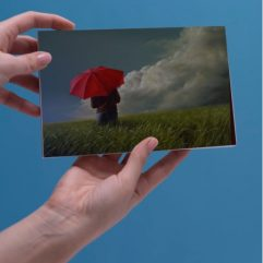 1create - greeting card-my-red-umbrela-landscape