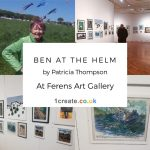 2019 Open Exhibition 1create Header - Ben at the Helm by Patricia Thompson
