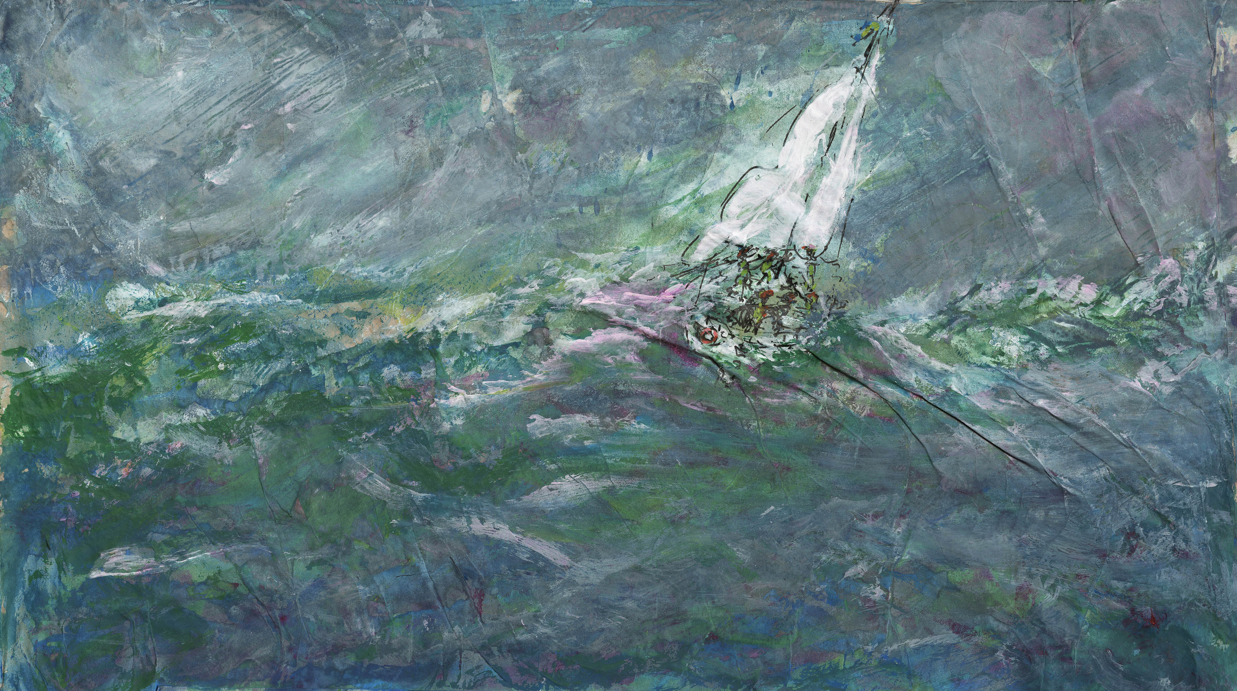 1createe - 96 Yacht Crumpeld Squall by Patricia Thompson