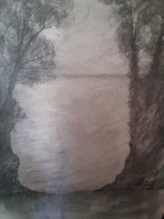 1create - Calm Drawing by Mark Noble