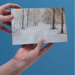1create - greeting card Exmoor snow by Mark Noble
