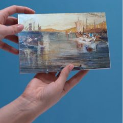 1create - greeting card Fishing at sunset by Mark Noble