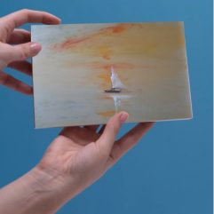 1create - greeting card Sailing Boat Onward by Mark Noble