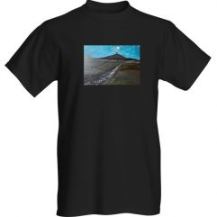 1create - t-shirt-Glastonbury-Tor-in-Moonlight-black by Mark Noble
