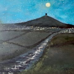 Glastonbury Tor in Moonlight by Mark Noble