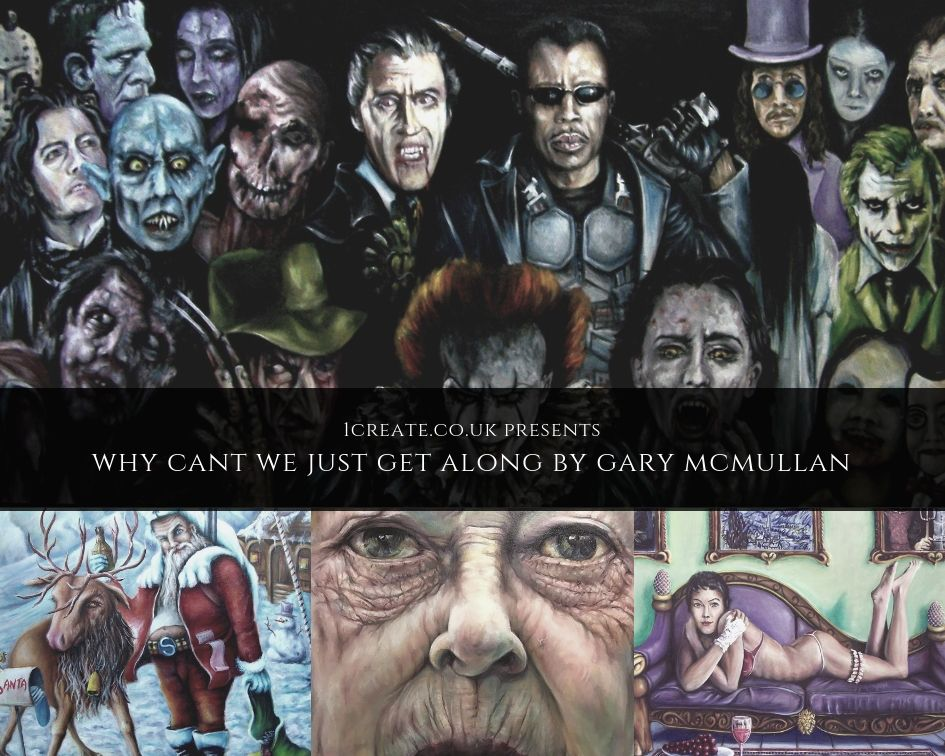 1create - Why cant we just get along Exhibition by Gary McMullan