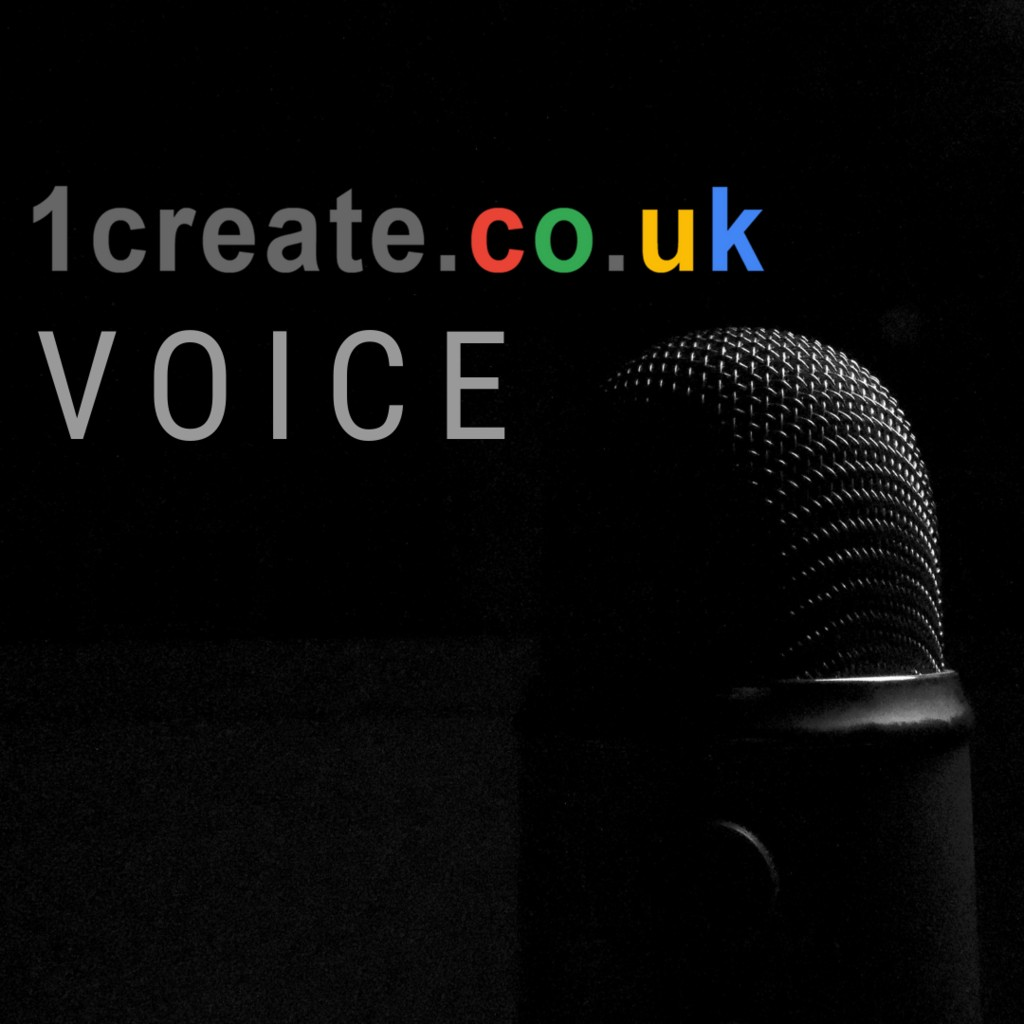 1create Voice Podcast Banner