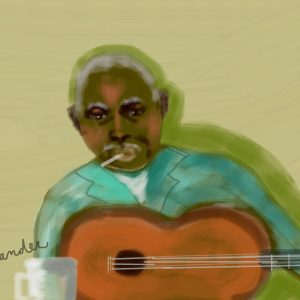 1create - Blues Man by Cheryl Alexander