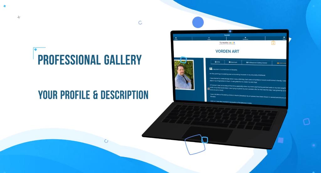 1create Professional Gallery Video Banner